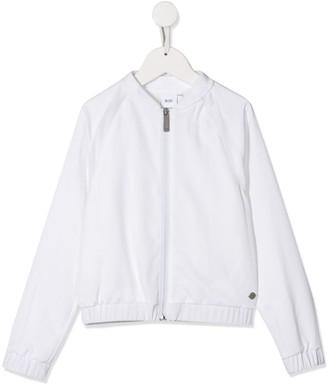 Boss Kidswear Zip-Up Bomber Jacket