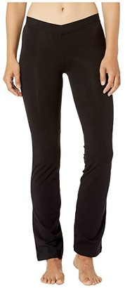 Bloch Ecarte V-Front Jazz Pants (Black) Women's Casual Pants