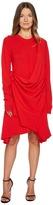 Sonia Rykiel Runway Cashmere Long Sleeve Drape Front Dress Women's Dress