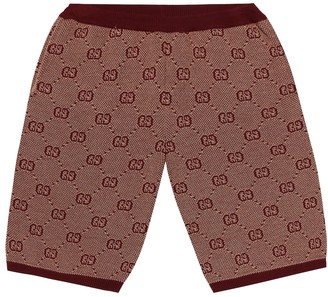 Gucci Kids GG wool and cotton shorts