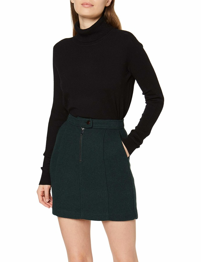 Thumbnail for your product : New Look Women's Wool Zip Skirt