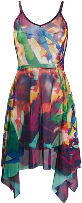 Jean Paul Gaultier Pre Owned 1998 Abstract Leg Print Dress