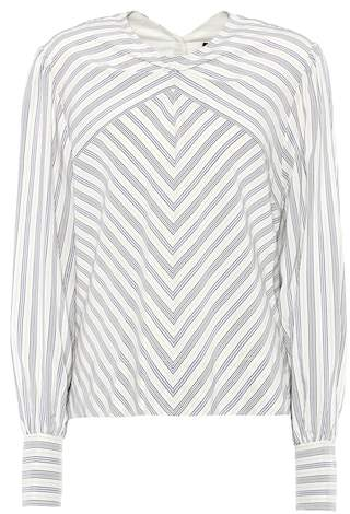 Isabel Marant Val striped silk-blend top