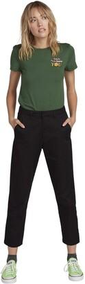 Volcom womensB1131809Volcom Women's Frochickie Rise High Waist Chino Pant Casual Pants - Black - 27W x 30L