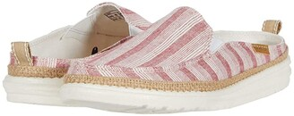 Hey Dude Lexi Stripes (Red) Women's Shoes