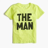 "J.Crew Boys' garment-dyed ""The Man"" T-shirt"