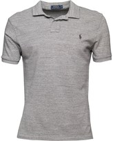 Polo Ralph Lauren Mens Custom Fit Weathered Mesh Polo Homestead Heather 003