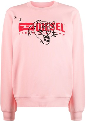 Diesel Long Sleeve Printed Logo Sweater