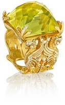 Madstone Gryphon citrine gold ring