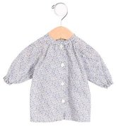 Makie Girls' Floral Print Gathered Top