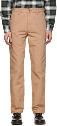 Carhartt Work In Progress Khaki Single Knee Trousers