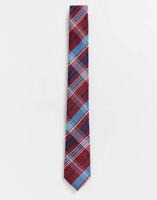 Ben Sherman red checked tie