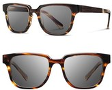 Shwood Women's 'Prescott' 52Mm Acetate & Wood Sunglasses - Black/ Ebony/ Grey