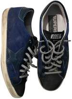 Golden Goose Superstar Blue Cloth Trainers