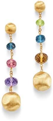 Marco Bicego 18K Yellow Gold Africa Amethyst, London Blue Topaz, Citrine, Peridot & Pink Tourmaline Drop Earrings
