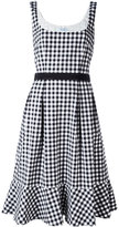 Blumarine checked flared dress - women - Cotton/Spandex/Elastane - 46