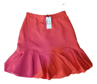 Carven Red Wool Skirts