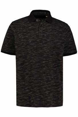 JP 1880 Men's Big & Tall Polo Shirt Black XX-Large 726739 10-XXL