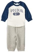 Ralph Lauren Infant Boys' Baseball Tee & Fleece Jog Pants Set - Sizes 3-24 Months