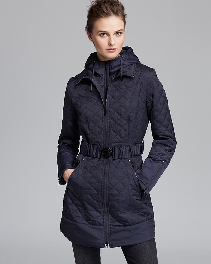 Laundry by Shelli Segal Rain Coat - Quilt Belted with Hood