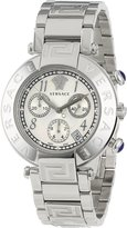 Versace Women's Q5C99D498 S099 REVE CHRONO silver stainless-steel band watch.