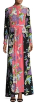 Diane von Furstenberg Silk Cinch Waist Maxi Dress