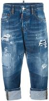 DSQUARED2 Kawaii distressed bleach jeans - women - Cotton/Spandex/Elastane/Polyester - 36