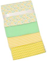 Zak and Zocy Unisex Baby Green Soft Cotton Receiving Blankets, 4 Pcs