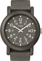 Timex Unisex Quartz Watch with Grey Dial Analogue Display and Grey Nylon Strap TW2P62500