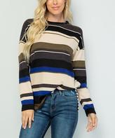 Celeste Women's Tunics BLUE - Blue & Ivory Stripe Tunic - Women & Plus