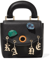 Christopher Kane Gypsy Bonnie Embellished Textured-leather Tote - Black