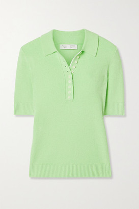 Proenza Schouler White Label Ribbed-knit Polo Shirt - Green