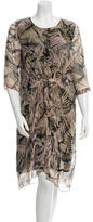 Megan Park Dawn Silk Georgette Dress w/ Tags