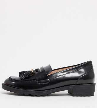 Raid Wide Fit Buster flat loafers in black