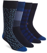Cole Haan Men's 4-Pack Mixed Pattern Socks