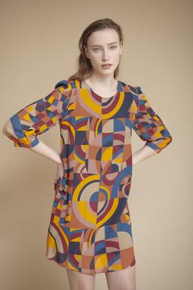 MKT Studio Orange Geometric Print Rougin Tunic Dress - UK10 | orange - Orange/Orange