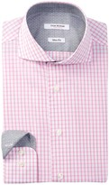 Isaac Mizrahi Check Slim Fit Dress Shirt