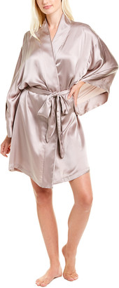 Josie Natori Key Silk Robe