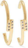 Elizabeth and James Leda Gold-Plated Crystal Earrings