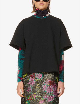 Dries Van Noten Dropped-shoulder cotton-jersey top