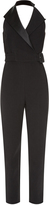 Balenciaga Satin-lapel halterneck jumpsuit