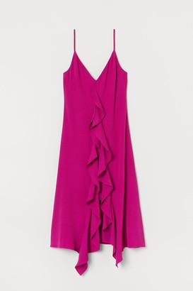 H&M Flounced crepe dress
