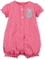 Carter's Bunny-Pocket Cotton Romper, Baby Girls