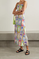 Thumbnail for your product : Rixo Holly Printed Silk-crepe Midi Dress - Blue