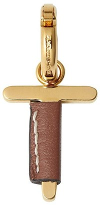 Burberry leather-wrapped T charm