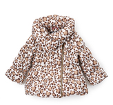 Hawke & Co Milk Shake Leopard Print Bubble Jacket - Toddler & Girls