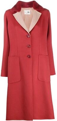 Manzoni 24 Contrast Collar Coat