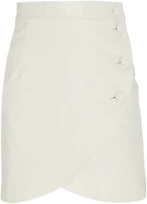 MATÉRIEL Waxed Cotton Tulip Mini Skirt