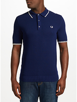 Fred Perry Tipped Knit Polo Shirt, Rich Navy