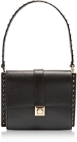 Valentino Black Leather Shoulder Bag w/Small Studs